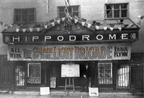 The Hamilton Hippodrome in Townhead Street during the run of the film 'The Charge of the Light Brigade' - Courtesy Graeme Smith.