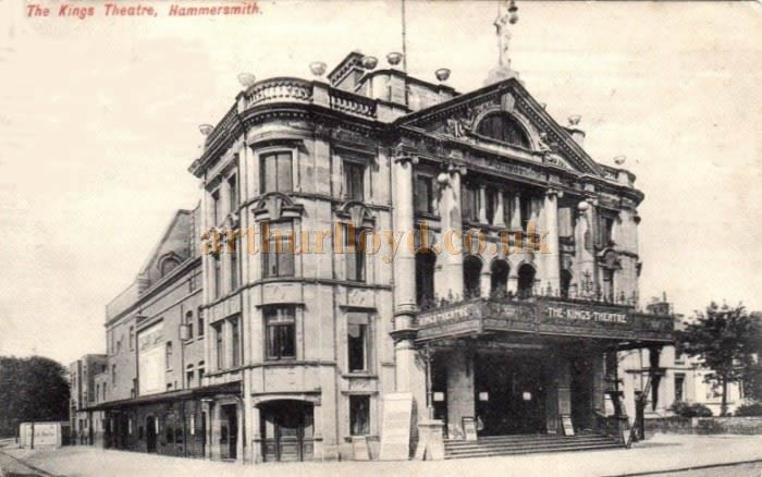 The King's Theatre, Hammersmith, from a postcard.