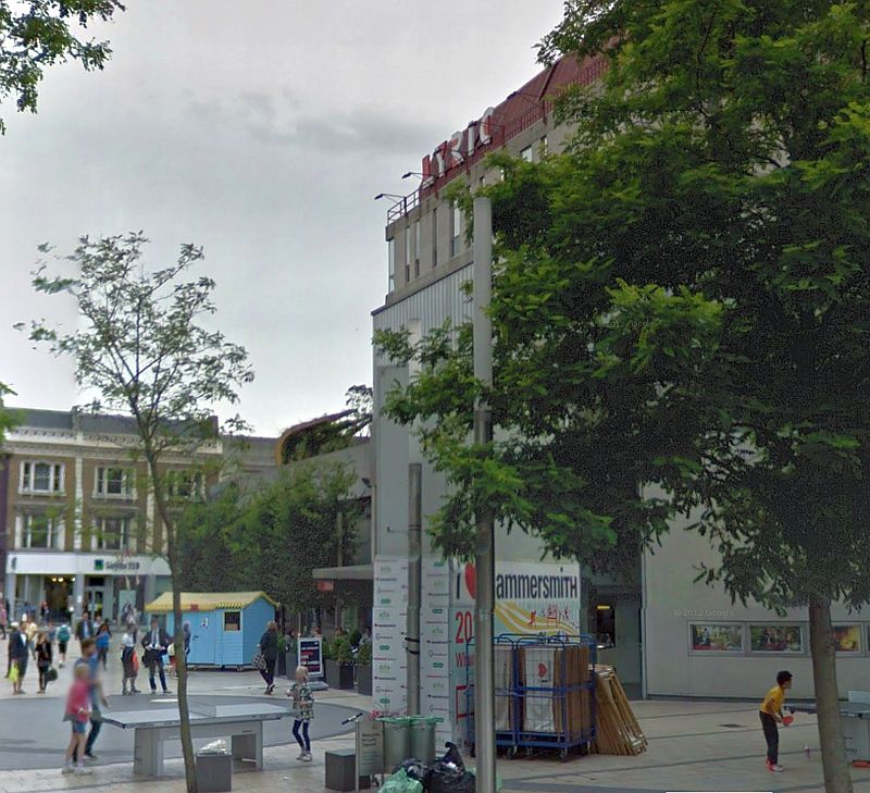 A Google StreetView Image of the Lyric, Hammersmith - Click to Interact