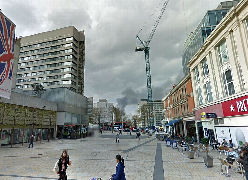 A Google StreetView Image of the Lyric Theatre, Lyric Square, Hammersmith - Click to Interact