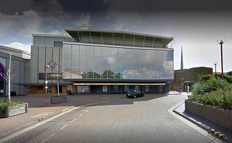 A Google StreetView Image of the Harlow Playhouse - Click to Interact.