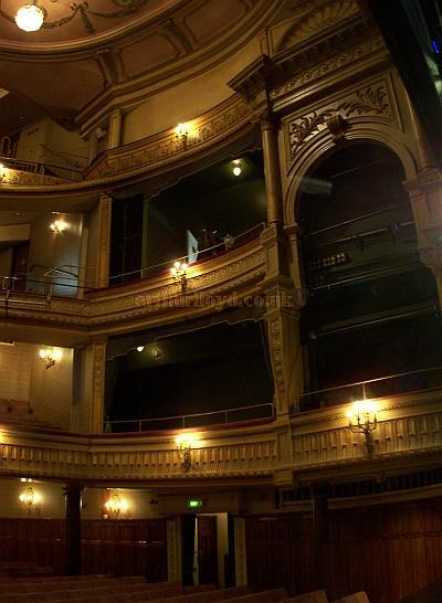The auditorium of the Harold Pinter Theatre in a photograph taken from the stage in September 2009. - Photo M.L
