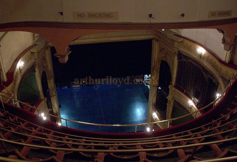 The auditorium and stage of the Harold Pinter Theatre in a photograph taken from the Gallery in September 2009 - Photo M.L.
