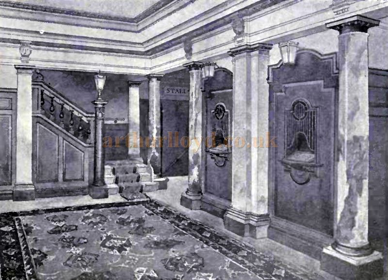 A Sketch showing the Foyer of the Comedy Theatre in 1912 - From the Academy Architecture and Architectural review of 1912.