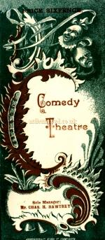 A programme for 'Lord and Lady Algy' at the Comedy Theatre in April 1898. - Click to see entire programme.