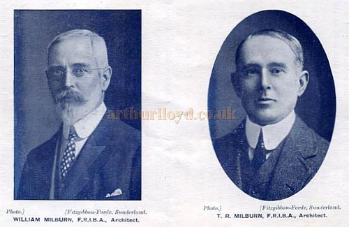 William and Thomas Milburn, architects of the Empire Palace Theatre,  West Hartlepool