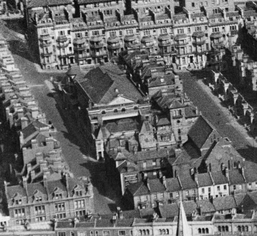 The Elite Picture House can be seen in this aerial photograph from Britain From Above taken on the 24th of April 1929.