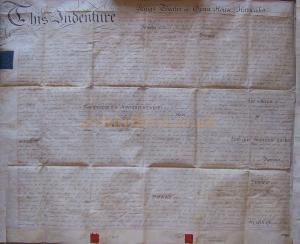 An Indenture for the King's Theatre, Haymarket, signed on the 24th of July 1793 - Courtesy John Davies. - Click to Enlarge