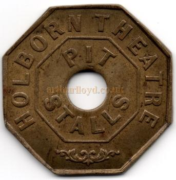 An entrance token for the Pit Stalls of the Holborn Theatre - Courtesy Alan Judd
