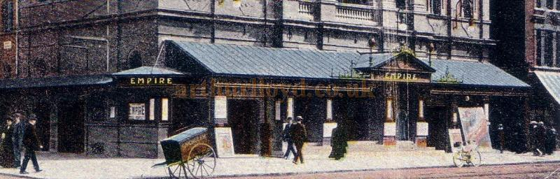 Detail from the postcard of the Holloway Empire Theatre -  1904.