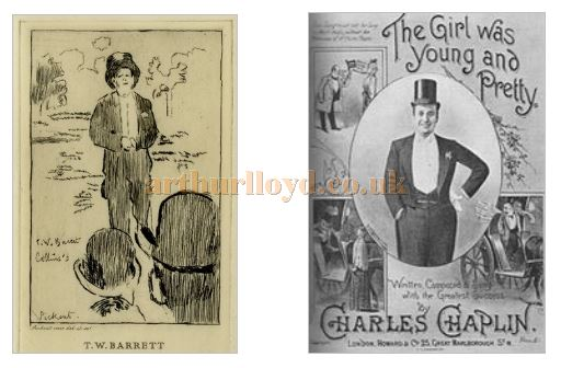 A sketch of T. W. Barrett, and Charles Chaplin's 'The Girl was Young and Pretty' - Courtesy David Taylor.