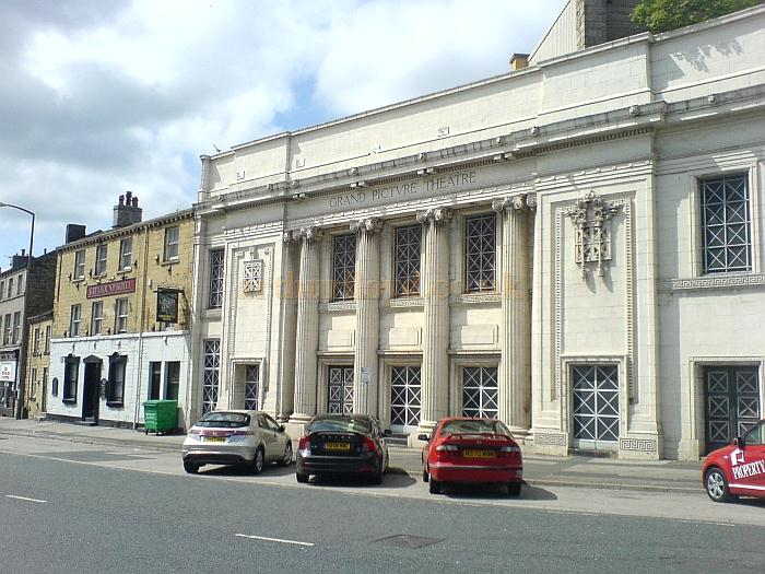 The Facade of the former Grand Picture Theatre, Huddersfield in May 2010 - Courtesy Charles Bowman
