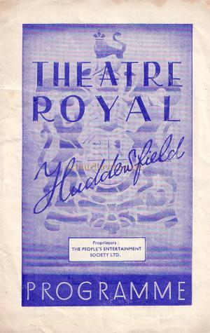 A Programme for 'Peace Comes to Peckham' at the Theatre Royal, Huddersfield, October the 25th, 1948.