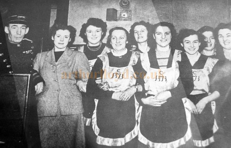 The Staff of the Empire Theatre, Inverness wearing George B Bowie aprons in 1952 - Courtesy Derek Mathieson.