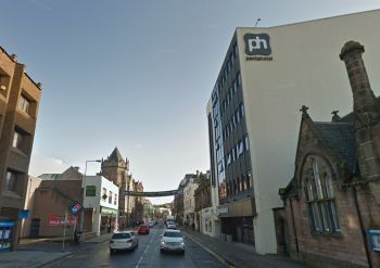A Google StreetView Image of the site of the former Empire Theatre, Inverness - Click to Interact.