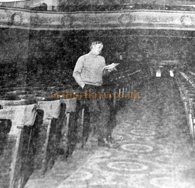John Worth, Manager of the Empire Theatre, Inverness for 20 years, shown here in the Stalls of the Theatre in 1970 - Courtesy Derek Mathieson.