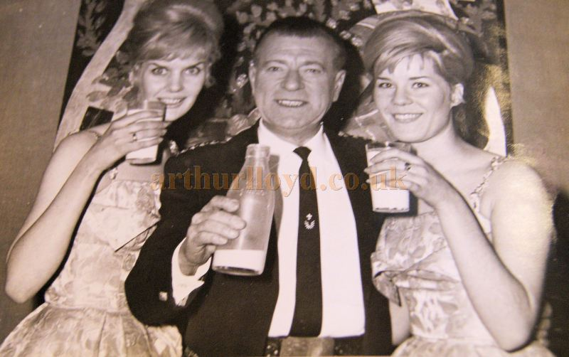 Robert Wilson and The Dale Sisters celebrating the Golden Jubilee of the Empire Theatre, Inverness on the 31st of December 1962 - Courtesy Derek Mathieson.