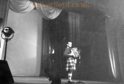 Will Star on stage for the Inverness Empire's Final Night in November 1970 - Courtesy Derek Mathieson.