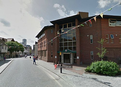 A Google StreetView Image of Cardinal House, which was built on the site of the former Ipswich Hippodrome in 1985 - Click to Interact.