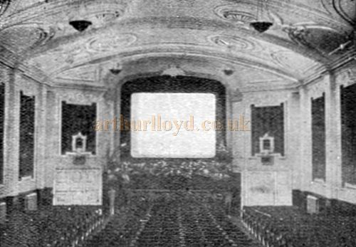 The auditorium of the Ipswich picture House in 1924 - From a brochure for The Bulman Cinema Screen Company.