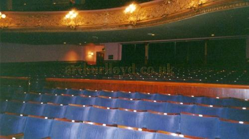 The reinstated Barrier between the Fauteuils / Stalls and Pit at the Gaiety Theatre, Isle of Man - Courtesy David Garratt.