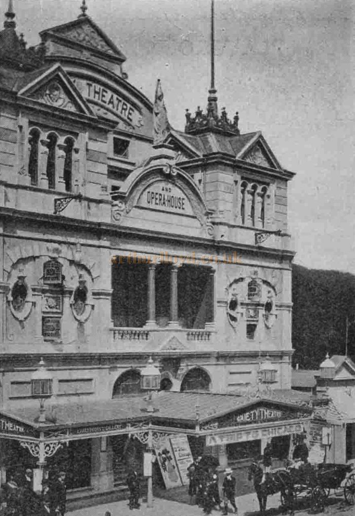 The Gaiety Theatre and Opera House, Douglas, Isle of Man - From The Playgoer of 1902 - Courtesy Iain Wotherspoon