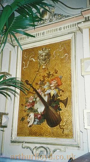 A mosaic at the side of the orchestra pit of the Gaiety Theatre, Isle of Man - Courtesy David Garratt.