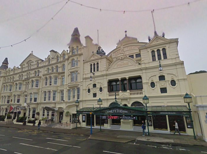 A Google StreetView Image of the Gaiety Theatre, Isle of Man - Click to Interact