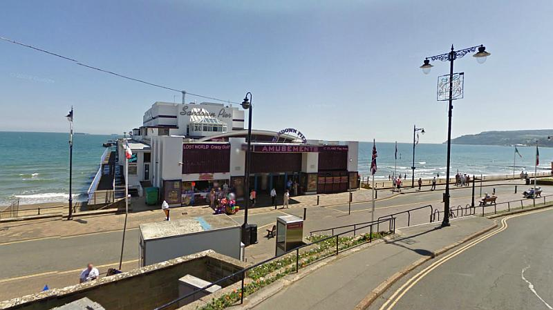 A Google Streetview image of the Sandown Pier - Click to Interact