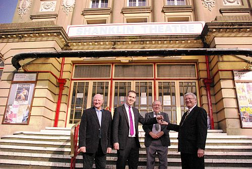 Handing over the keys to the Shanklin Theatre