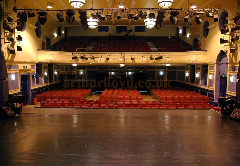 The Auditorium of the Shanklin Theatre as seen from the Stage  - Courtesy Mike Crowe, Vic Farrow, and Anthony Wood.