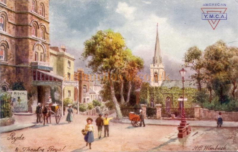 A lovely Tucks colour postcard depicting the Theatre Royal, Ryde.