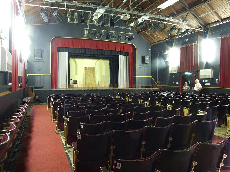 The auditorium and Stage of the Trinity Theatre, Isle of Wight, in 2009 - Courtesy Mark Price - Theatres Trust.