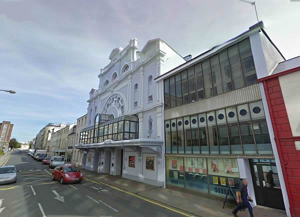 A Google StreetView Image of the Jersey Opera House today - Click to Interact .