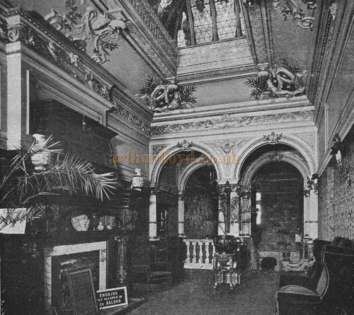 The Lounge, through which you would pass to reach the Dress Circle and Refreshment Saloons of the Kennington Theatre - From The Playgoer of 1902 - Courtesy Iain Wotherspoon.