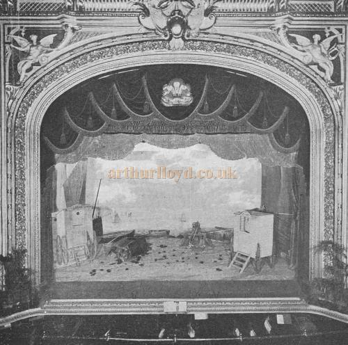 The Stage and Proscenium of the Kennington Theatre - From The Playgoer of 1902 - Courtesy Iain Wotherspoon.