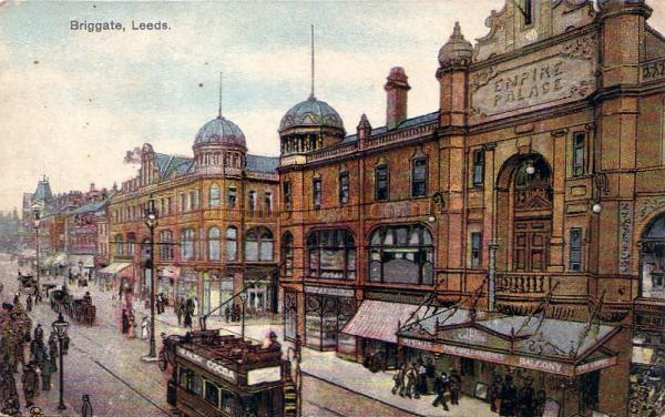The Empire Palace Theatre, Leeds - From a postcard - Click to visit the Leeds page on this site.