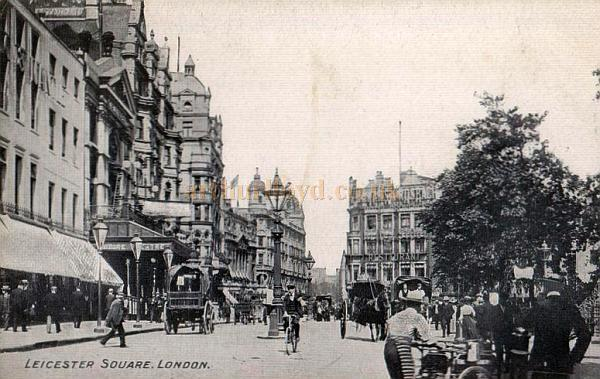 Leicester Square with the Empire Theatre to the left - From an early Postcard.