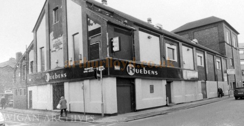 The former Theatre Royal, Leigh, here in its incarnation as Ruebens  Nightclub in the 1970s - With kind permission Wigan Archive Services.