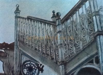 A Cast Iron Staircase - All That Remains of the Llandudno Pier Pavilion today - Courtesy George Richmond.
