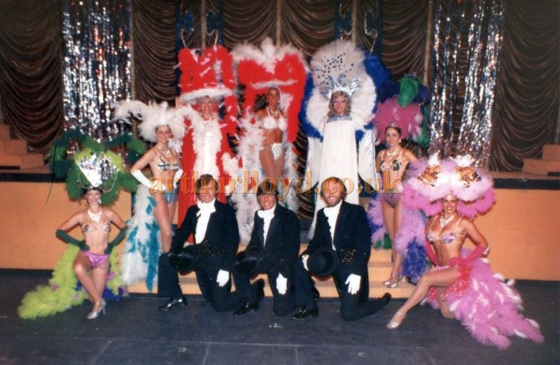 A cast photo for the last show of the season at the Pier Pavilion, Llandudno in 1983 - Courtesy Keith Hopkins