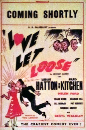 A Poster for 'Love Let loose' at the Palladium Theatre, Llandudno - Courtesy George Richmond.