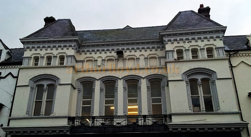 The Upper Facade of the former St. Georges Hall / Princes Theatre, Llandudno in 2013 - Courtesy George Richmond.
