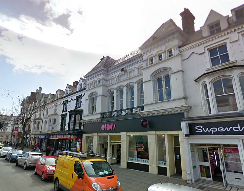 A Google StreetView Image of the former St. Georges Hall / Princes Theatre, Llandudno - Click to Interact.