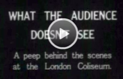 This British Pathe Film from 1926 entitled 'What The Audience Doesn't See' shows the workings of the London Coliseum Revolve, Lighting Switchboard, and the Stage Crew setting a scene - Click to view.