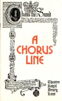 A Programme for the Drury Lane production of 'A Chorus Line' in July 1976 - Courtesy Linda Chadwick.
