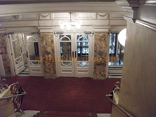 The Entrance Foyer at the London Palladium in a photograph taken in May 2011 - Courtesy Philip Marshall.