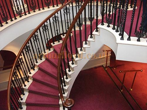 The Staircase leading up to the Circle and Val Parnell bar at the London Palladium in a photograph taken in May 2011 - Courtesy Philip Marshall.