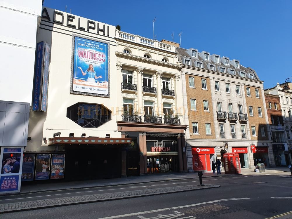 The Adelphi Theatre on the Strand, normally heaving with trafic and people - on March the 23rd 2020 during the Coronavirus Pandemic - Photo M.L.