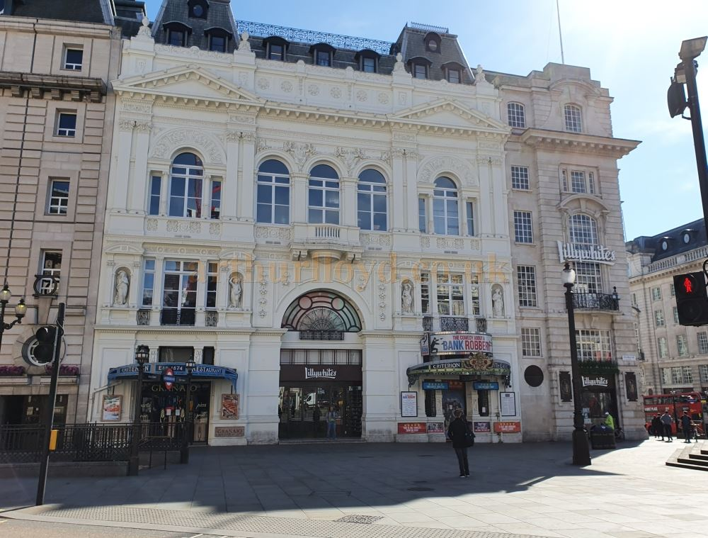 The Criterion Theatre, Piccadilly Circus - on March the 23rd 2020 during the Coronavirus Pandemic - Photo M.L.